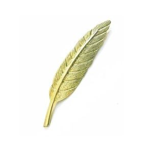 Gold Modern Feather Perfect Brooch